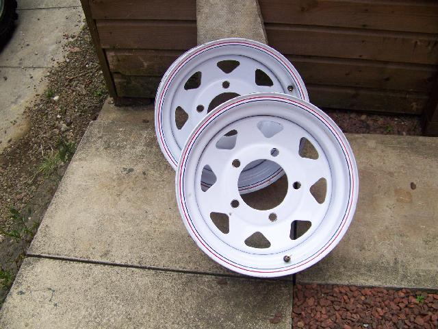 Ford Transit Van >> 4X LAND ROVER 15 WELLER WHEELS,