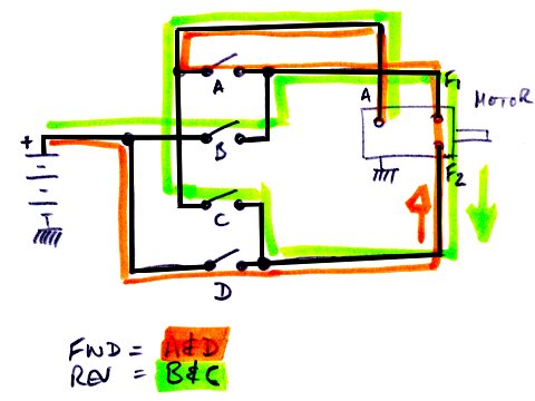 difflock view topic contactor pin outs for winch the switches are marked a b c d and are operated in pairs either a d or b c the two current paths are shown in different colours basically current